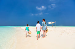 Mother and kids at tropical beach Stock Photography