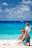 Mother and kids on vacation Royalty Free Stock Image