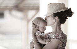 Mother and baby. Royalty Free Stock Image
