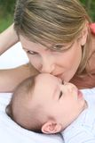 Mother Kissing Baby Boy Royalty Free Stock Photo
