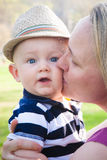 Mother Kissing Happy Baby Boy Royalty Free Stock Photo