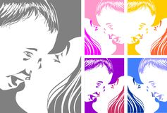 Mother kissing her baby - set Royalty Free Stock Images