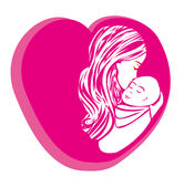 Mother kissing her child. Stock Image