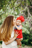 Mother Kissing Her Cute Baby Royalty Free Stock Photo
