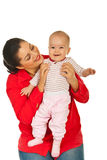 Mother with laughing baby girl Royalty Free Stock Photography