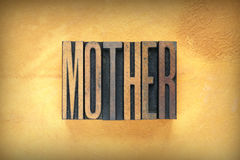 Mother Letterpress Stock Photography