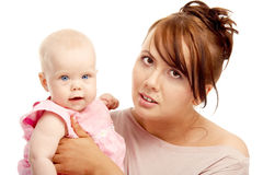 Mother and little baby Royalty Free Stock Photography