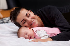 Mother and little baby Royalty Free Stock Photo