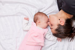 Mother and little baby Stock Photo