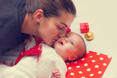 Mother and little baby Stock Photos