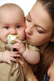 Mother with little baby boy. Stock Photography