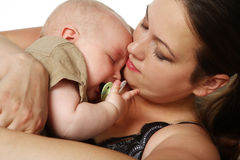 Mother with little baby boy. Stock Images