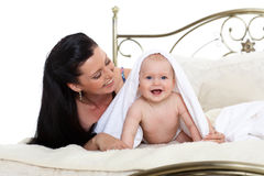 Mother and little baby. Stock Images