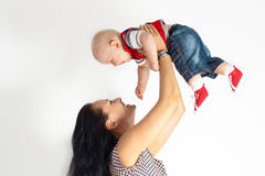 Mother and little boy Royalty Free Stock Photo