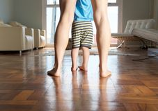 Mother and little boy feet Royalty Free Stock Photos