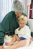 Mother and little boy in hospital Royalty Free Stock Photos