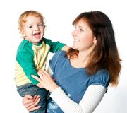 Mother with little child Royalty Free Stock Images