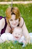 Mother and little child stock photo