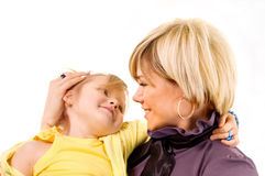 Mother and little daughter Royalty Free Stock Image