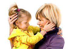 Mother and little daughter Stock Photography