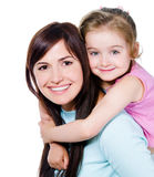 Mother with little daughter Royalty Free Stock Photos