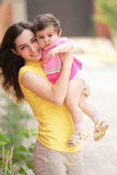Mother with little daughter Royalty Free Stock Images