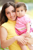 Mother with little daughter closeup Royalty Free Stock Images
