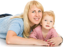 Mother and little daughter royalty free stock images