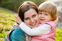 Mother and little daughter happy together Royalty Free Stock Photo