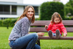 Mother and little daughter having fun together Royalty Free Stock Photography