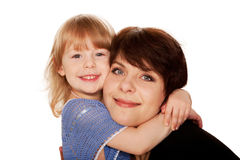 Mother and little daughter hugging. Stock Image