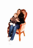 Mother with little daughter. Stock Images