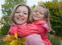 Mother with little girl Royalty Free Stock Photography