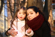 Mother and little girl . Royalty Free Stock Photography