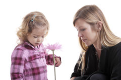 Mother and little girl gardening Royalty Free Stock Photo
