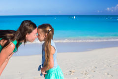 Mother with little girl have fun on summer vacation Royalty Free Stock Photos