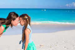Mother and little girl have fun on summer vacation Royalty Free Stock Photo