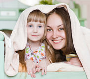 Mother and little girl having time together Royalty Free Stock Images