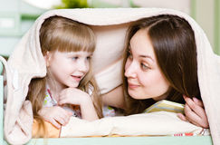 Mother and little girl  having  time together Stock Photography