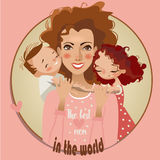 Mother and little kids Royalty Free Stock Images