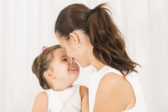 Mother and little lovely daughter Royalty Free Stock Photos