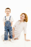 Mother and little son Royalty Free Stock Photos