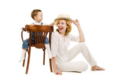 Mother and little son Royalty Free Stock Photo
