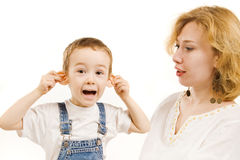 Mother and little son Royalty Free Stock Images