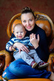 Mother with the little son royalty free stock photos