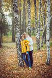 Mother and little son in park or forest Royalty Free Stock Photo