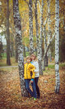 Mother and little son in park or forest Royalty Free Stock Photos