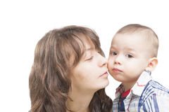 Mother and little Son together Stock Images