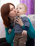Mother with  little son Stock Photography