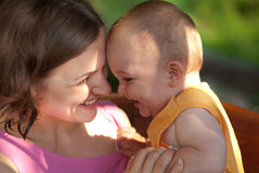 Mother loves her baby Royalty Free Stock Photos